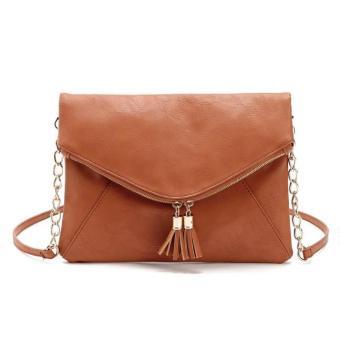 Women Shoulder Bag Handbag Tote Satchel Hobo Messenger Bag Brown (Intl)