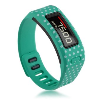 TPU Replacement Wristband Band FOR Garmin Vivofit Bracelet with Clasp L S Size S Green Dots
