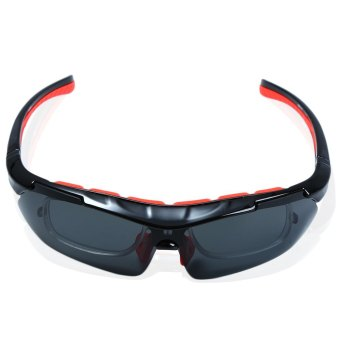 BANGLONG 082-01 Cycling Polarized Glass Set Outdoor Sport Sunglass with 4 Replaceable Lenses - INTL