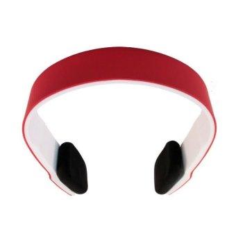 Bluetooth Headset Two Channel MP3 Music Headphone - BTH-401 - Merah