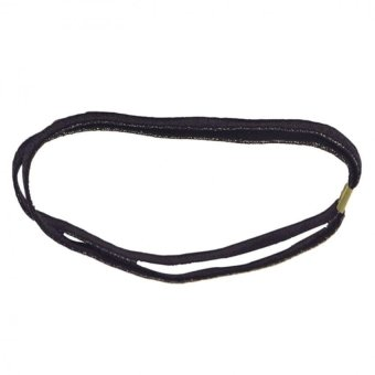 Women Trendy Elastic Bling Hair Band Double Braided Glitter Headband Hair Hoop Black - Intl