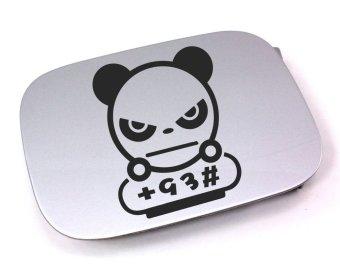 Tokomonster Decal Panda Race Stiker Penutup Tangki Mobil
