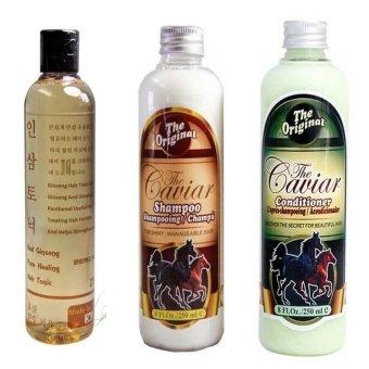 Shampoo Caviar - Paket Shampoo Conditioner & Tonic Red Ginseng