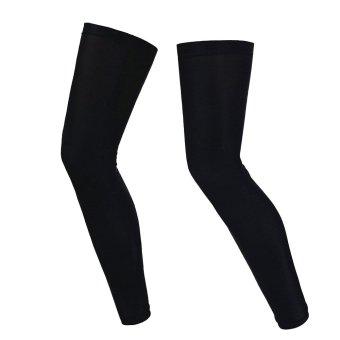 WOLFBIKE MTB Cycling Sports UV Protective Leg Sleeve Legwarmers (Black) (Intl)