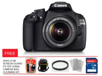 Canon EOS 1200D - 18 MP - Kit Lensa 18-55 IS II Free Memory Card , Screen Guard , Tas Kamera , Filter dan Cleaning Kit