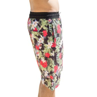EOZY Fashion Summer Beach Men Beach Pants Board Shorts South-east Asia Style Male Casual Flower Pattern Outdoor Sports Trunks Swim Wear Couples Short Pants (Multi-color) (Intl)