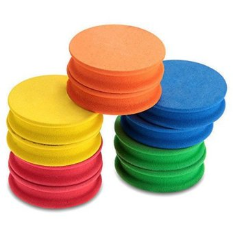 Ilife TOMOUNT 10PCS Round Foam Spools Reels with Single Groove for Fishing Hook Line 5 Colors