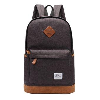 360DSC Kaukko K1001 Men's Canvas Backpack Large Capacity Casual Rucksack School Travel Bag (Black)- INTL