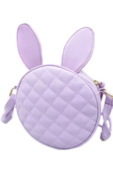Cute Little Rabbit Shoulder Bag (Purple) (Intl)