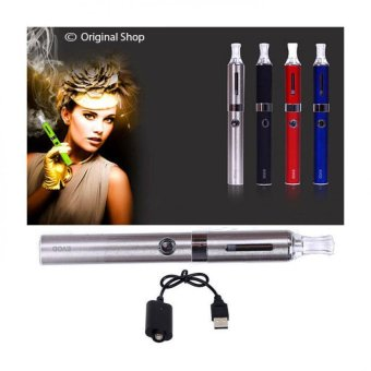 Smart Evod Rokok Elektrik Include Charger + Liquid - Silver