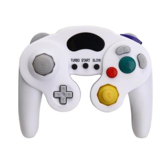 Generic Wired Shock Gamepad Joystick for Nintendo Gamecube NGC Wii - White - Intl