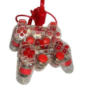 Xtech - Gamepad Xtech Transparan DOUble - Merah