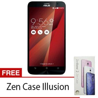 Asus Zenfone 2 ZE551ML - 32 GB - Merah + Gratis Zen Case Illusion