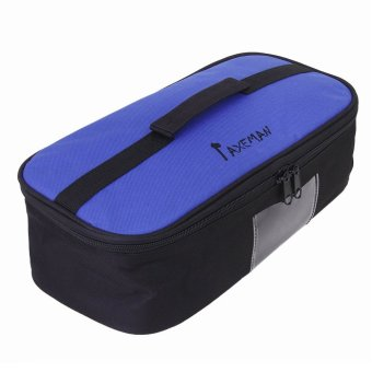Outdoor Travel Camping BBQ Grill Cooking Tool Carrying Bag Cushioned Pouch Holder Organizer (Blue)