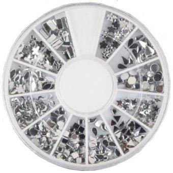 Okdeals 3D Nail Art Rhinestones Glitters Tips Manicure Wheel #4