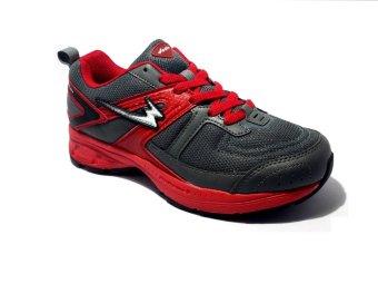 Eagle Velocity Sepatu Lari - Dark Grey Dark Red Black