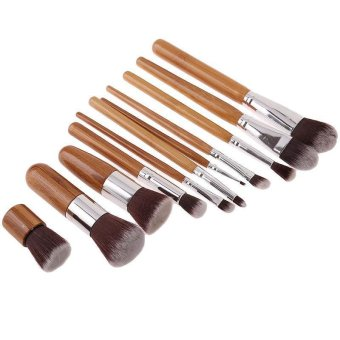 Ai Home 11Pcs Makeup Brushes Set with Bag Beauty Cosmetic Tools Kit - Intl