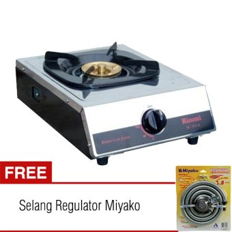 harga Rinnai Kompor 1 Tungku RI 511 A - Putih + Selang Regulator Miyako Lazada.co.id