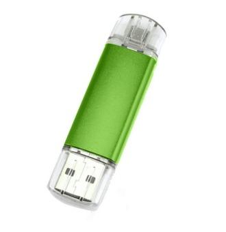 Usb Flash Drive 32gb Metal Usb Stick Support Smart Phone+Pc Really Capacity U Disk(Green) (Intl)