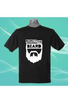 RESPECT THE BEARD 100% Cotton O Neck Camiseta Unisex Short Sleeve T Shirt (Intl)