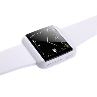 U Bluetooth Anti-lost/Alarm Sync/SMS/Call Smart Watch Wrist Watch for Smartphone White (Intl)