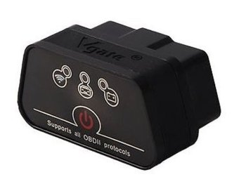 Vgate iCar 2 WIFI Version ELM327 OBD2 Code Reader iCar2 For Android/ IOS/PC Black Color (Intl)