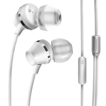 Fanmusic E6 In-Ear earbuds with Mic HiFi Audiophile Earphone White (Intl)