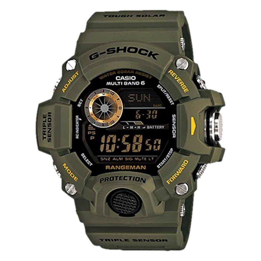harga Casio G-shock - Jam Tangan Pria - Hijau Army - Strap Resin - GW-9400-3 Rangeman Lazada.co.id