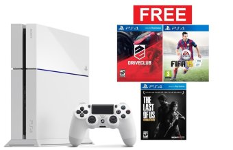 Sony PlayStation 4 - Putih + Gratis 3 New Games
