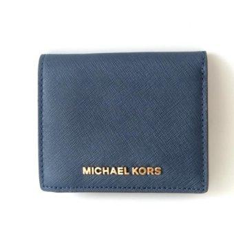 Michael Kors Jet Set Travel Saffiano Leather Card Holder - Navy