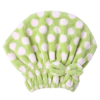 Textile Microfiber Turban Quickly Dry Hair Hat (Green) (Intl)