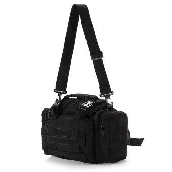 Multifunction Fishing Tackle Bag Waist Pack Shoulder Satchel Haversack Lure Reel Gear Storage Handbag(BLACK) - Intl