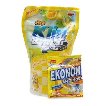 So Klin Pembersih Lantai Citrus Lemon Pouch - 800ml