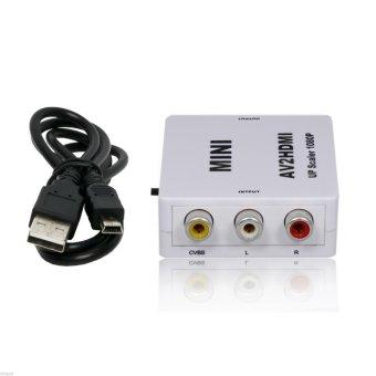 AV CVBS 3RCA to HDMI Video Composite Converter AV2HDMI Adapter 720p/1080p (White) (Intl)