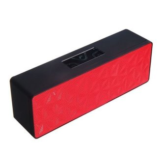 Bluetooth 3.0 Stereo Speaker With TF Reader Red
