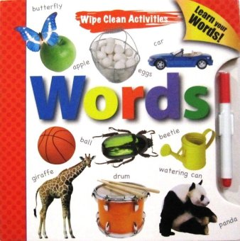 Tiyo Tiyo Books - Wipe Clean Activities - Words