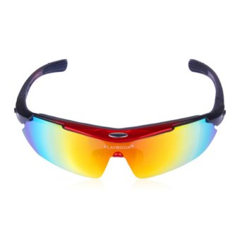 AOXINDA Polarized Cycling Bicycle Sports Sunglasses Glasses with 5 Interchangeable Lenses - Intl