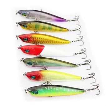 7pcs 8cm Fish Shaped Artificial Lures Hook Fishing Accessories (Random Color)- Intl