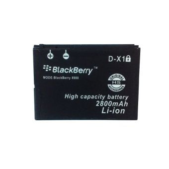 Li-ion Baterai Blackberry Double Power 2800Mah For D-X1 Curve 8900 Storm 9500 - Hitam terpercaya
