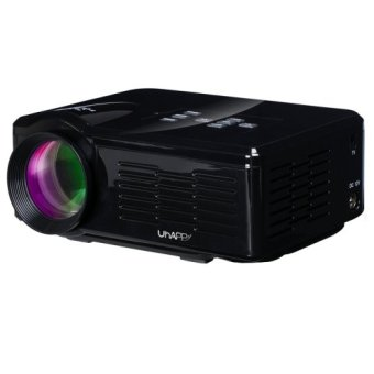 Uhappy U35 800LM Home Theater 640*480 Mini Projector with Remote Control, Support HDMI + SD + USB + TV + AV + VGA(Black) (Intl)
