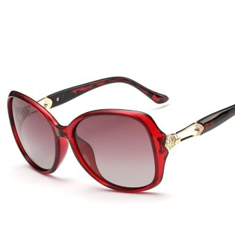 Vintage Large Sunglasses Polarized Sun Glasses Driving Classic Glasses Red (Intl)