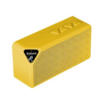 Bluetooth Wireless Boombox Microphone Mini Speaker (Yellow) - Intl