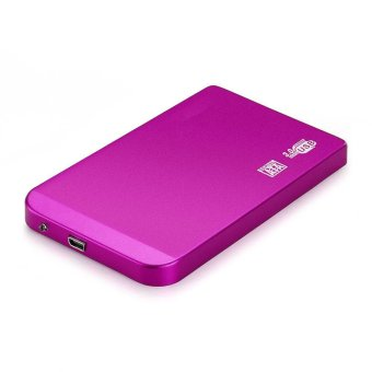 Rose Red 2.5 inch USB 3.0 Ultra Slim SATA Hard Drive Disk HDD External Enclosure Case Box Rose (Intl)