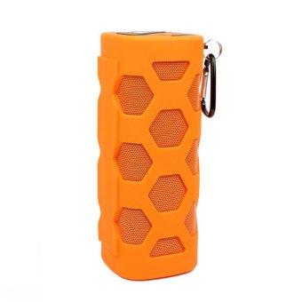 Portable Waterproof/Dust-proof Bluetooth Speaker (Orange) - Intl