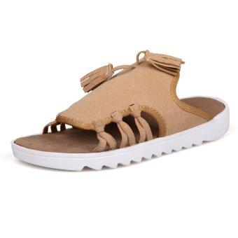 ZNPNXN PU Men's Fashion slipper Sandals (Khaki) - INTL