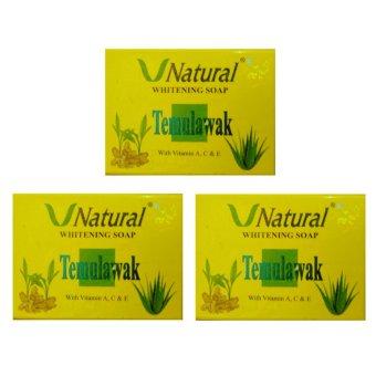Temulawak Sabun V Natural Whitening Soap - 3 Pcs