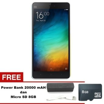 Xiaomi Mi 4i - 16GB - Putih + Gratis Power Bank 20000mAH - Micro SD 8GB
