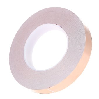 2cm * 50m Copper Foil Tape One Side Single Conductive Self Adhesive EMI Shielding Screening Slug and Snail Barrier for Electric Guitar Bass- Intl
