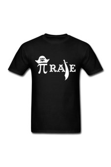 Men's Funny Pi Rate Personalize T-Shirt for Black (Intl)
