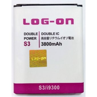 Log On Battery Double Power For Samsung Galaxy S3 terpercaya